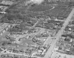 Aerial view of the Fairview Villa apartments at West Fairview Avenue and Goode Street in...