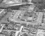 Aerial view of the Lanier Court apartments on Goode Street in Montgomery, Alabama.