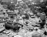 Aerial view of the block surrounded by Scott Street, South Court Street, Adams Avenue, and South...