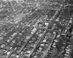 Aerial view of Holt Street in Montgomery, Alabama, between Day and Bullock Streets.