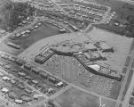 Aerial view of the Normandale Shopping Center on East Patton Avenue in Montgomery, Alabama.