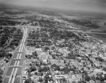 Aerial view of Montgomery, Alabama, at the northeast corner of the intersection of Interstate 65...