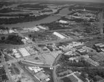 Aerial view of Sabel Steel Service, Inc., at 749 North Court Street in Montgomery, Alabama.