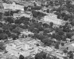 Aerial view of St. Margaret's Hospital and the Capitol complex in Montgomery, Alabama.