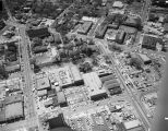 Aerial view of the block surrounded by Montgomery, Wilkinson, Bibb, and Catoma Streets in downtown...