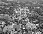Aerial view of Dadeville, Alabama.