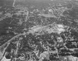Aerial view of Alexander City, Alabama.
