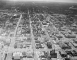 Aerial view of downtown Montgomery, Alabama, looking south toward Interstate 85.