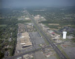 Aerial view of the Capitol Plaza Shopping Center on East South Boulevard in Montgomery, Alabama.