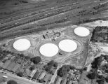 Aerial view of the pump station of the Montgomery City Water Works on Day Street in Montgomery,...