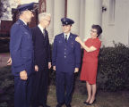 Member of the Air Force R.O.T.C. at Auburn University in Auburn, Alabama, receiving a pin,...