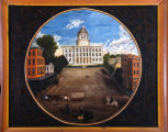 Painting of the Capitol in Montgomery, Alabama.
