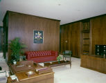 Reception area of the Alabama State Bar Association building on Dexter Avenue in Montgomery,...
