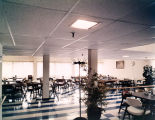 Dining room of the Downtown Nursing Home at 519 South McDonough Street in Montgomery, Alabama.
