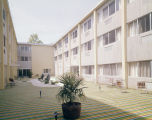 Courtyard of the Downtown Nursing Home at 519 South McDonough Street in Montgomery, Alabama.