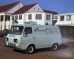 Koolvan refrigerated delivery vehicle parked outside the Montgomery Country Club on Narrow Lane...