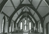 Nave of St. John's-in-the-Prairies Episcopal Church in Forkland, Alabama.