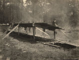 Barbecue pit used at the dedication of the school building in Pine Level, Alabama.
