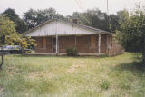 Exterior of the Freeman Cabin in Blountsville, Alabama.