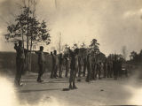 Male students exercising at McLeaut's School, an African American school in Alabama.