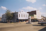 Buildings at the southeast corner of Prairie Street and Hardaway Avenue in downtown Union Springs,...