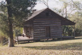 Log cabin in Union Springs, Alabama.