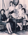 Martha Brewer with Mrs. William O. Jones, Mrs. McDowell Lee and Mrs. William Nicrosi in the parlor...