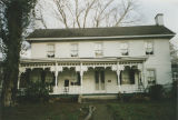 Front view of Locust Hill (John Daniel Rather House) at 209 Cave Street in Tuscumbia, Alabama.