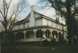 Side view of Locust Hill (John Daniel Rather House) at 209 Cave Street in Tuscumbia, Alabama.