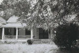 Front view of the Dr. H. S. Skinner House on the south side of U.S. Highway 84 in the historic...
