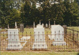 Headstones at the Pleasant Hill Presbyterian cemetery in Dallas County, Alabama.