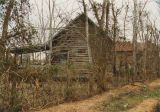 Side view of a dogtrot tenant house in Sardis, Alabama.