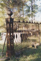 Cemetery fence near the Fambro-Arthur House at the Old Cahawba archaeological site in Dallas...