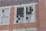 Broken windows of the Tremont School in Selma, Alabama.