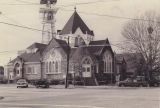 First Christian Church on Selma Avenue at the northwest corner of Franklin Street in Selma,...
