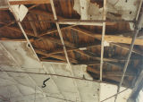 Rafters of the W. B. Davis Mill annex at 203 8th Street Northeast in Fort Payne, Alabama.