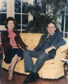Governor Fob and Bobbie James in the sunroom at the Governor's Mansion.