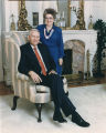 Governor Guy and Helen Hunt in the drawing room at the Governor's Mansion.