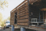 Log house in Blount Springs, Alabama, as it was being moved to Shelby County.