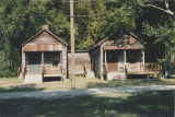 Shotgun houses in Hunt's Alley in Prattville, Alabama.
