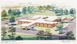 Drawing of the Selma Rehabilitation Center in Selma, Alabama.