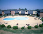 Pool at the Burke Leigh apartments on Governors Drive in Montgomery, Alabama.