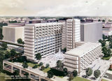 Drawing of the Lurleen Burns Wallace Memorial Hospital and Tumor Institute in Birmingham, Alabama.