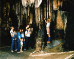 Interior of DeSoto Caverns in Childersburg, Alabama.