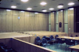 Courtroom in the new Montgomery County courthouse on Washington Avenue in Montgomery, Alabama.