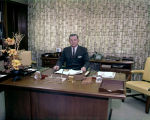 Walter Kennedy seated at his desk at the First National Bank of Montgomery in downtown Montgomery,...