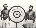 Two Mobile Cadets posing with a target.