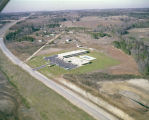Aerial view of the Holiday Inn in Clanton, Alabama.