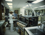 Nurse or technician operating equipment at Jackson Hospital on Forest Avenue in Montgomery,...