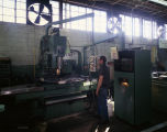 Employee operating machinery at one of the Kershaw Manufacturing Company plants in Montgomery,...